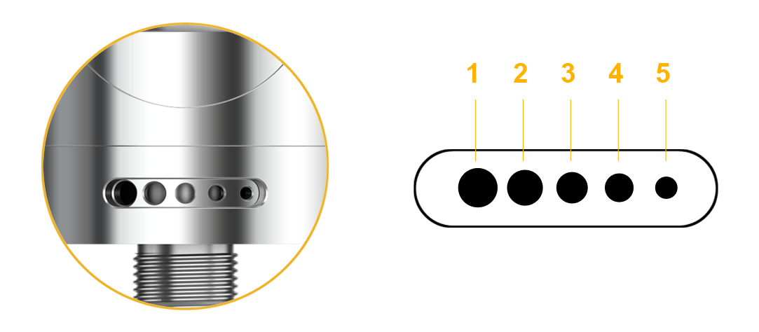 Aspirazione vapore bottom air flow atomizzatore ASPIRE Nautilus 2