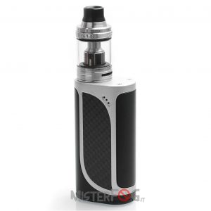 eleaf ikonn 220w tc kit con ello 4ml black silver 10