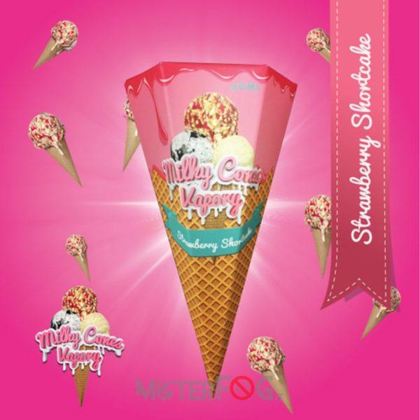 milky cones vapory aroma strawberry shortcake