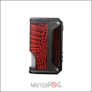 lost vape therion bf dna75c wood and red crocodile
