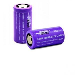 efest batteria imr 18350 flat top 700 mah 4