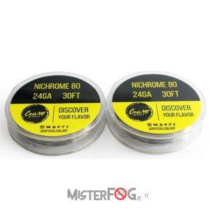coil art filo nichrome 24 gauge awg 0.50mm