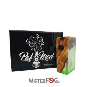 paf mod box mod bf resina verde e radica personalizzata mister fog 2